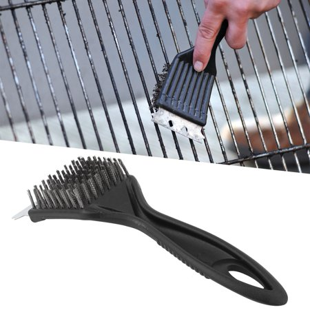 Image of FAGINEY BBQ Cleaning Brush, Stainless Steel BBQ Cleaning Brush,Stainless Steel Plastic BBQ Cleaning Brush Cleaner Scraper Camping Picnic