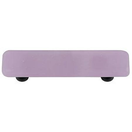 - Hot Knobs HK1035-PB Neo-Lavender Shift Rectangle Glass Cabinet Pull - Black Post