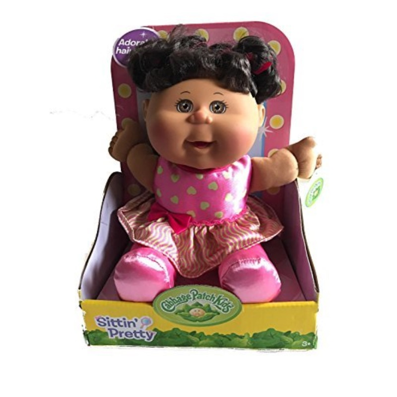 Cabbage Patch Kid's Sittin' Pretty Toddler Doll (Brown Hair, Brown Eyes) by
