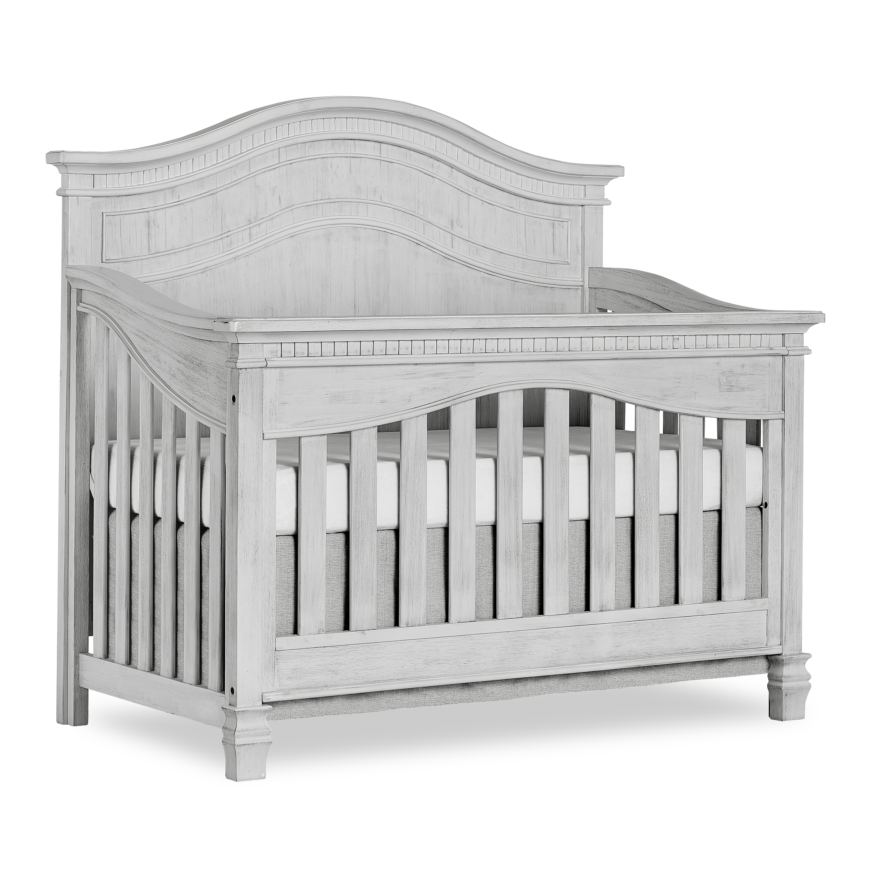 Evolur Cheyenne 5 in 1 Full Panel Convertible Crib, Antique Grey Mist by evolur