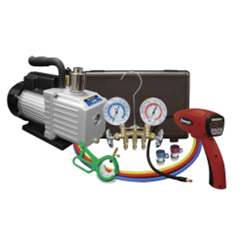 Mastercool 90062-A-KIT A/C Kit with Pump, Leak Detector and Gauge Set