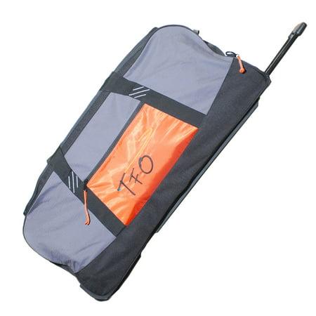 Tfo large rolling fly cargo bag fishing luggage wheeled for Fishing carts walmart