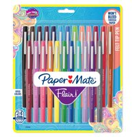 Paper Mate Felt Tip Pens | Flair Marker Pens, Medium Point, Assorted, 24 Count