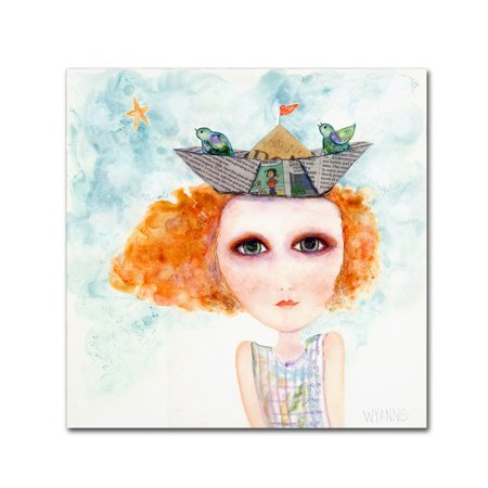 Trademark Fine Art 'Big Eyed Girl Life Is But A Dream' Canvas Art by Wyanne ()