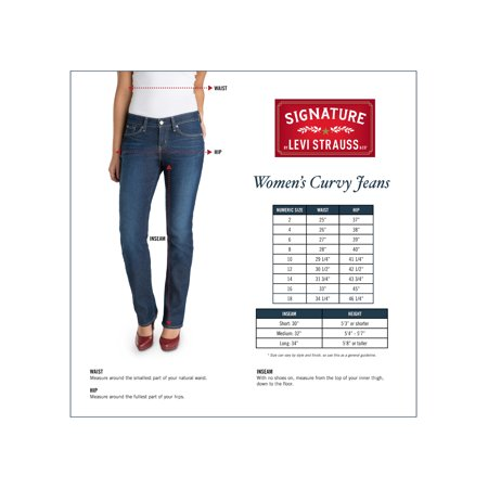 a49301a0 Signature by Levi Strauss & Co. Women's Curvy Straight Jeans Image ...