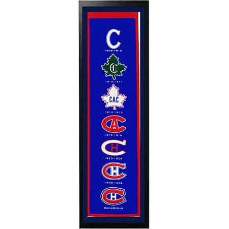 "NHL 14"" x 37"" Banner Frame, Montreal Canadiens by"