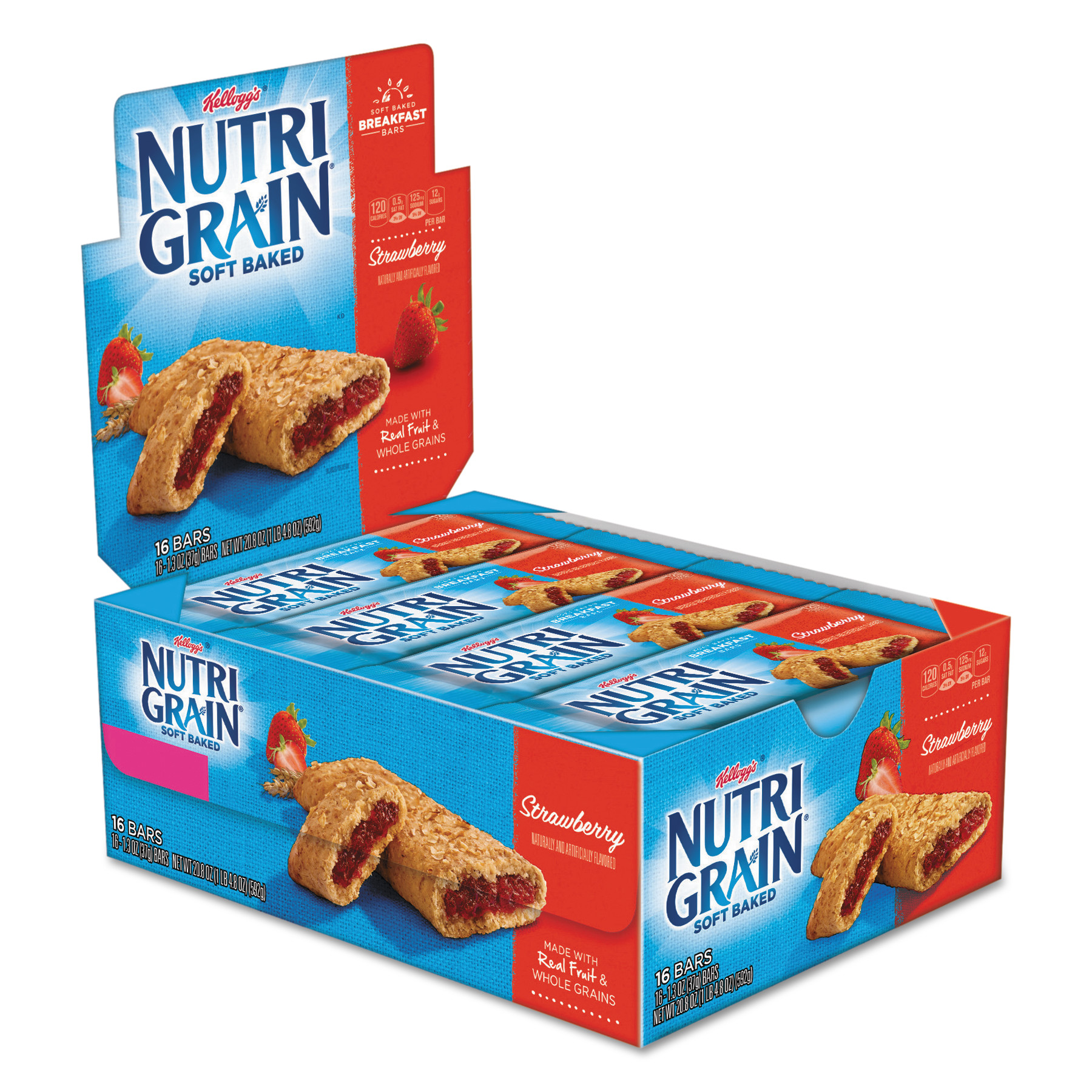 Kellogg's Nutri-Grain Cereal Bar Strawberry Single Serve (16 SingleServe Packs)