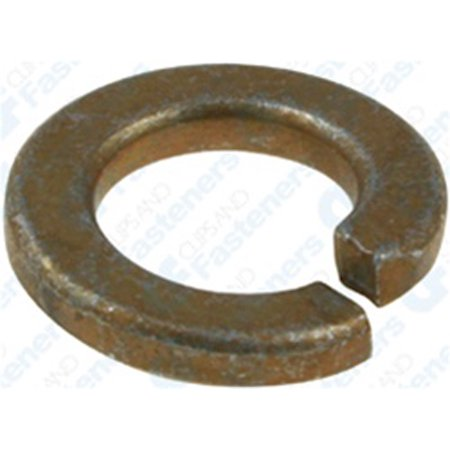 "Clipsandfasteners Inc 50 7/16"" High Alloy Split Lock Washer - Zinc & Yellow"