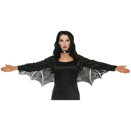 Lace Bat Wings Adult Halloween Accessory (Bat Pics Halloween)