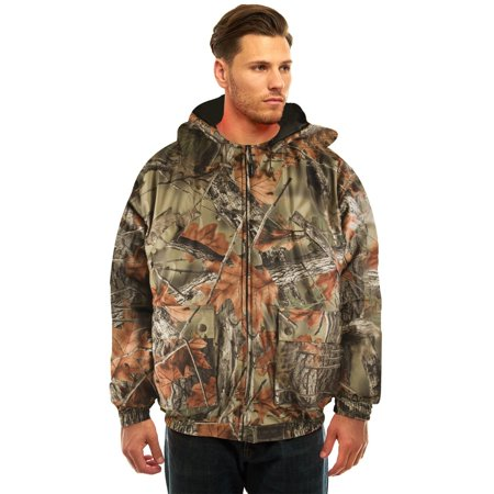 MENS INSULATED & WATERPROOF CAMOUFLAGE TANKER JACKET- HUNTING - CAMPING - HIKING (Large,Highland (Camouflage Uniform Jacket)