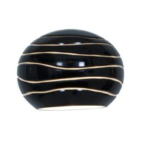 """Access Lighting Sphere - 5"""" Glass Pendant Etched Shade, Black Lined Finish"""