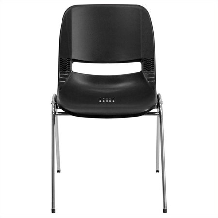 Flash Furniture HERCULES Series 661 lb Capacity Ergonomic Shell Stack Chair with Chrome Frame and 16