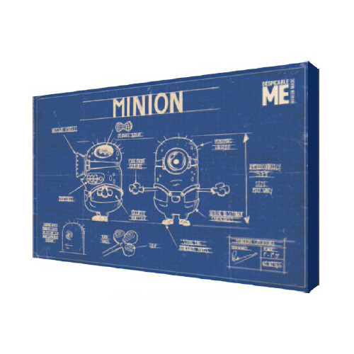 Pyramid America Minions 'Blueprint' Graphic Art on Canvas