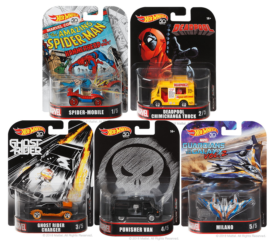 Hot Wheels Collectors Marvel Ghost Rider Charger Vehicle 1:64 Scale 50th Anniv.