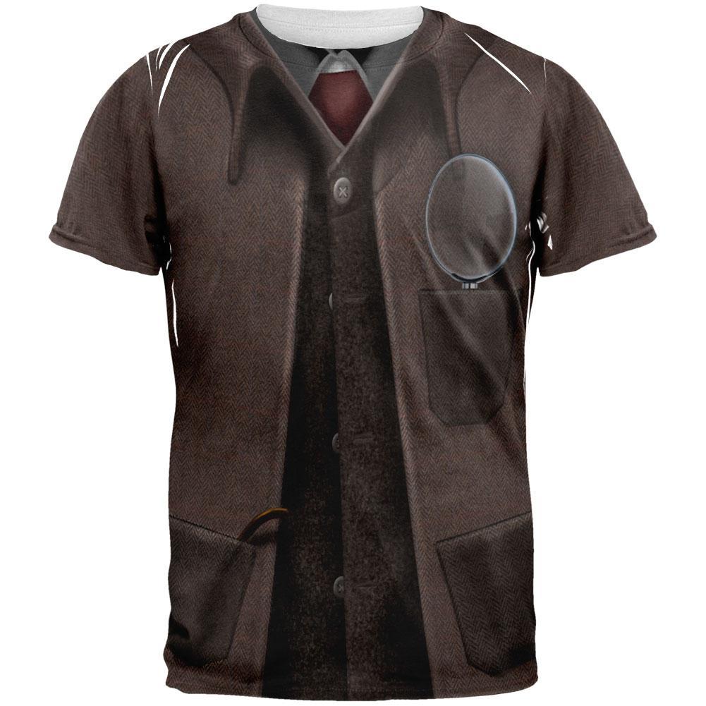 Halloween Sherlock Holmes Costume All Over Adult T-Shirt