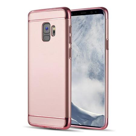 promo code 2f1e7 b4201 MUNDAZE Rose Gold Luxury Sleek Ultra Thin Case For Samsung Galaxy S9 Phone