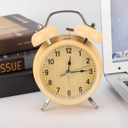 EOTVIA Alarm Clock Manual Wind Up, Mechanical Alarm Clock,Retro Mechanical Alarm Clock Manual Wind Up Metal Clock Double Twin Bell Metal Alarm Clock Bells
