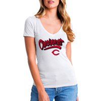 MLB Cincinnati Reds Women's Short Sleeve White Graphic Tee