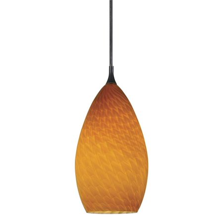 Classic Rust Outdoor Pendant (Cal Lighting UP-1026/6 1 Light Uni-Pack Mini Pendant with Orange)