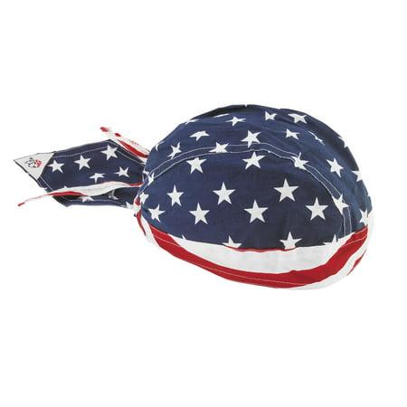 Zan Headgear Flydanna Headwrap Stars & Stripes (Blue, OSFM)
