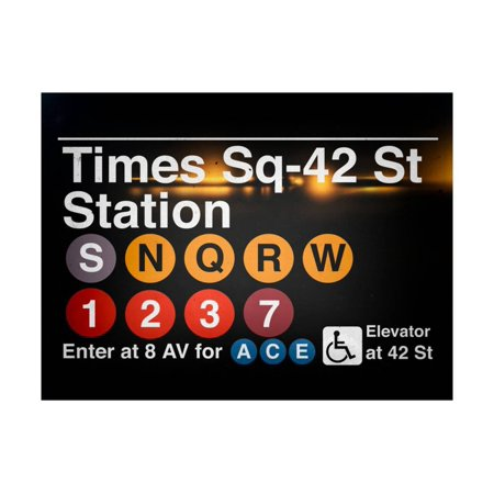 - Subway Times Square - 42 Street Station - Subway Sign - Manhattan, New York City, USA Print Wall Art By Philippe Hugonnard