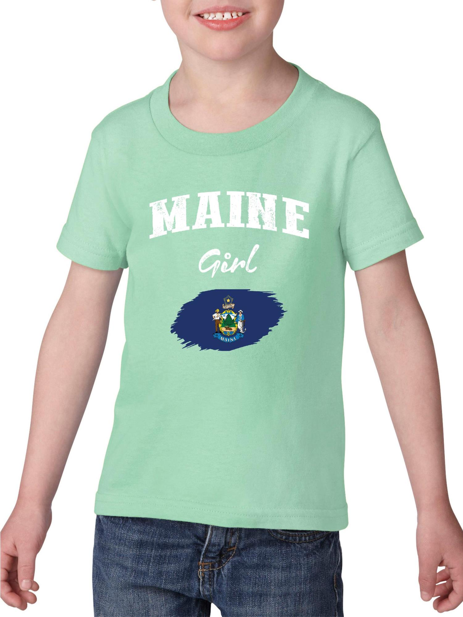 Maine State Shirt Athletic Wear USA T Novelty Gift Ideas Youth T-Shirt