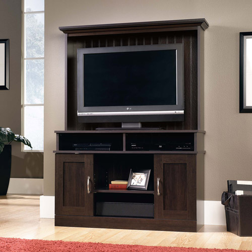 Sauder Cinnamon Cherry Entertainment Center for TVs up to 39""