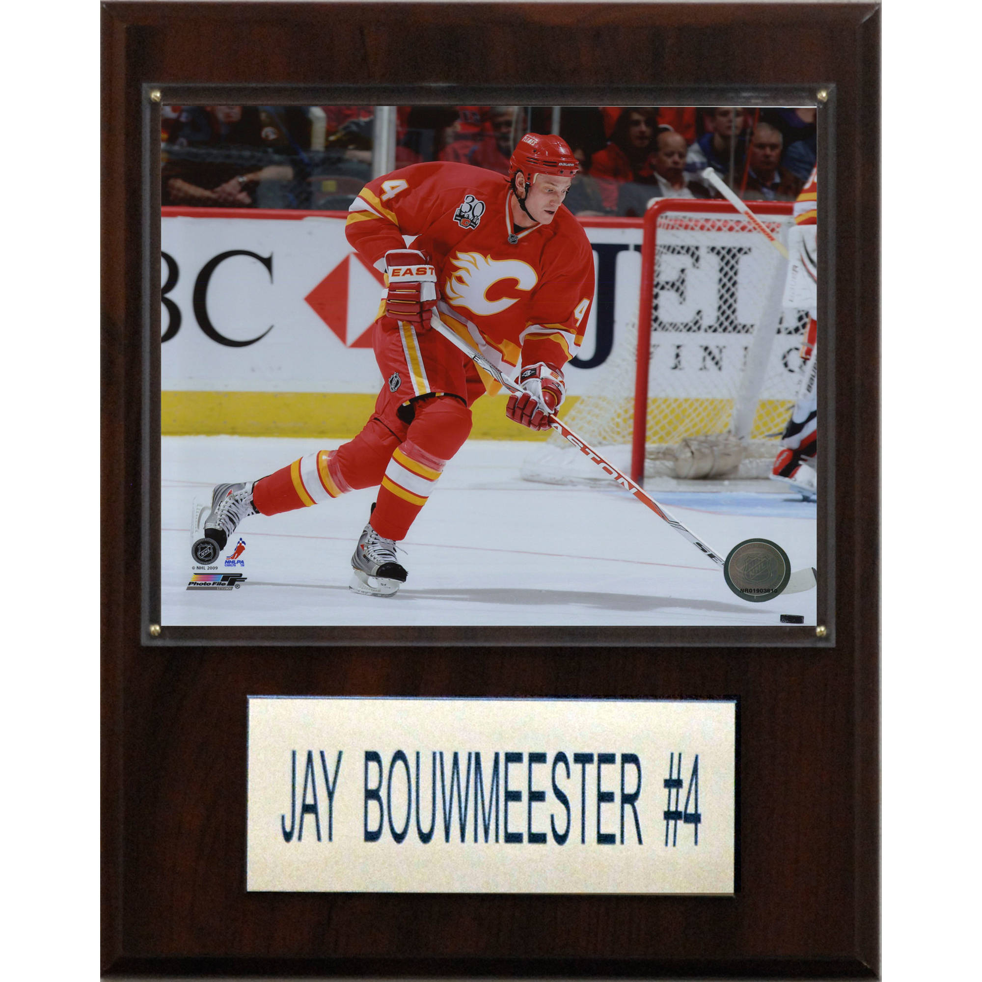 C&I Collectables NHL 12x15 Jay Bouwmeester Calgary Flames Player Plaque