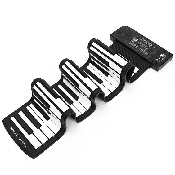 61 Keys Music Piano Keyboards Teaching For Kids Electronic Organ Superior Roll Up Piano