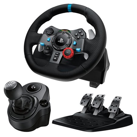 Logitech G29 Driving Force Racing Wheel Dual Motor Force Feedback with Shifter Bundle for PC and PS4 Logitech Driving Force Gt Wheel