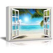 "wall26 - Beautiful Tropical Beach Gallery - Canvas Art Wall Decor - 32"" x 48"""