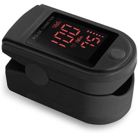 Zacurate Pro Series Cms 500Dl Fingertip Pulse Oximeter Blood Oxygen Saturation Monitor With Silicon Cover  Batteries And Lanyard  Mystic Black