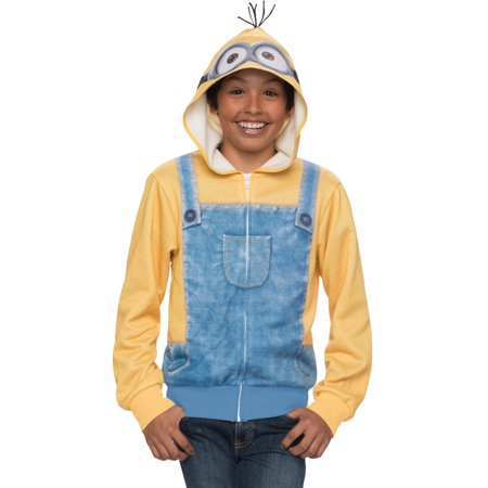 Childs Despicable Me Minions Minion Hoodie Costume Small-Medium - Despicable Me Minion Costume Kids