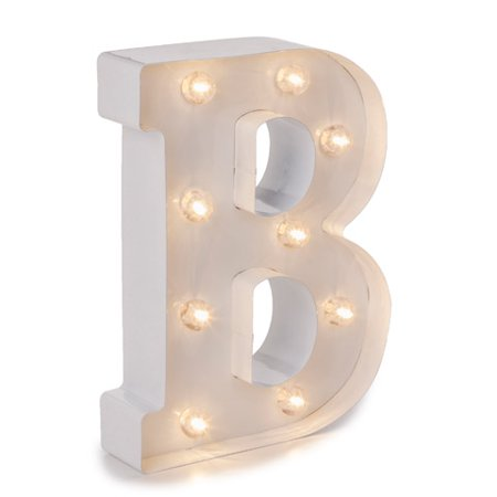 Darice Light Up White Marquee Letter - Letter B - 9.875 inches