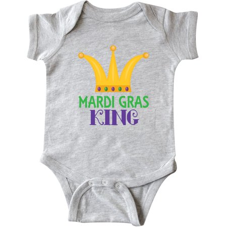 Inktastic Mardi Gras King Celebration Party Infant Creeper Crown Holiday Gold - Mardigras Outfits