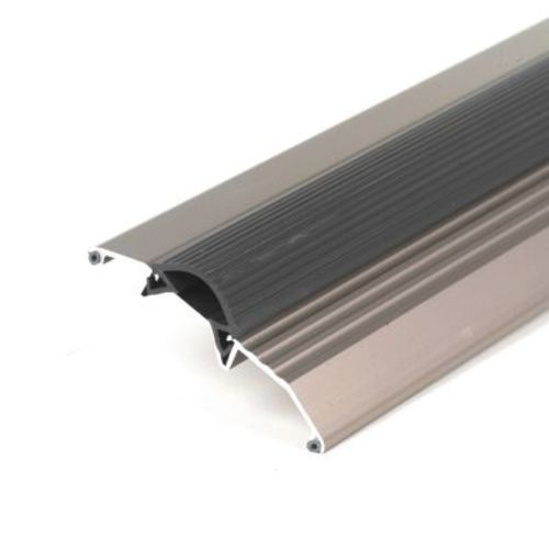 "M-D Products 49004 36"" Satin Nickel Low Boy Thresholds with Vinyl Seal Aluminum"