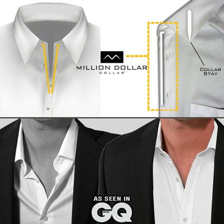 50 - Million Dollar Collar || Sewn In Dress Shirt Placket Stays || Look Like a Million Bucks || 170,000+