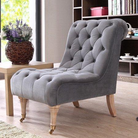 One Allium Way Persil Tufted Slipper Chair