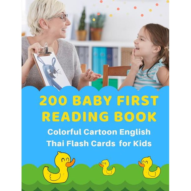 200 Baby First Reading Book Colorful Cartoon English Thai ...