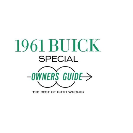 Bishko OEM Maintenance Owner's Manual Bound for Buick Special 1961 1961 Buick Special