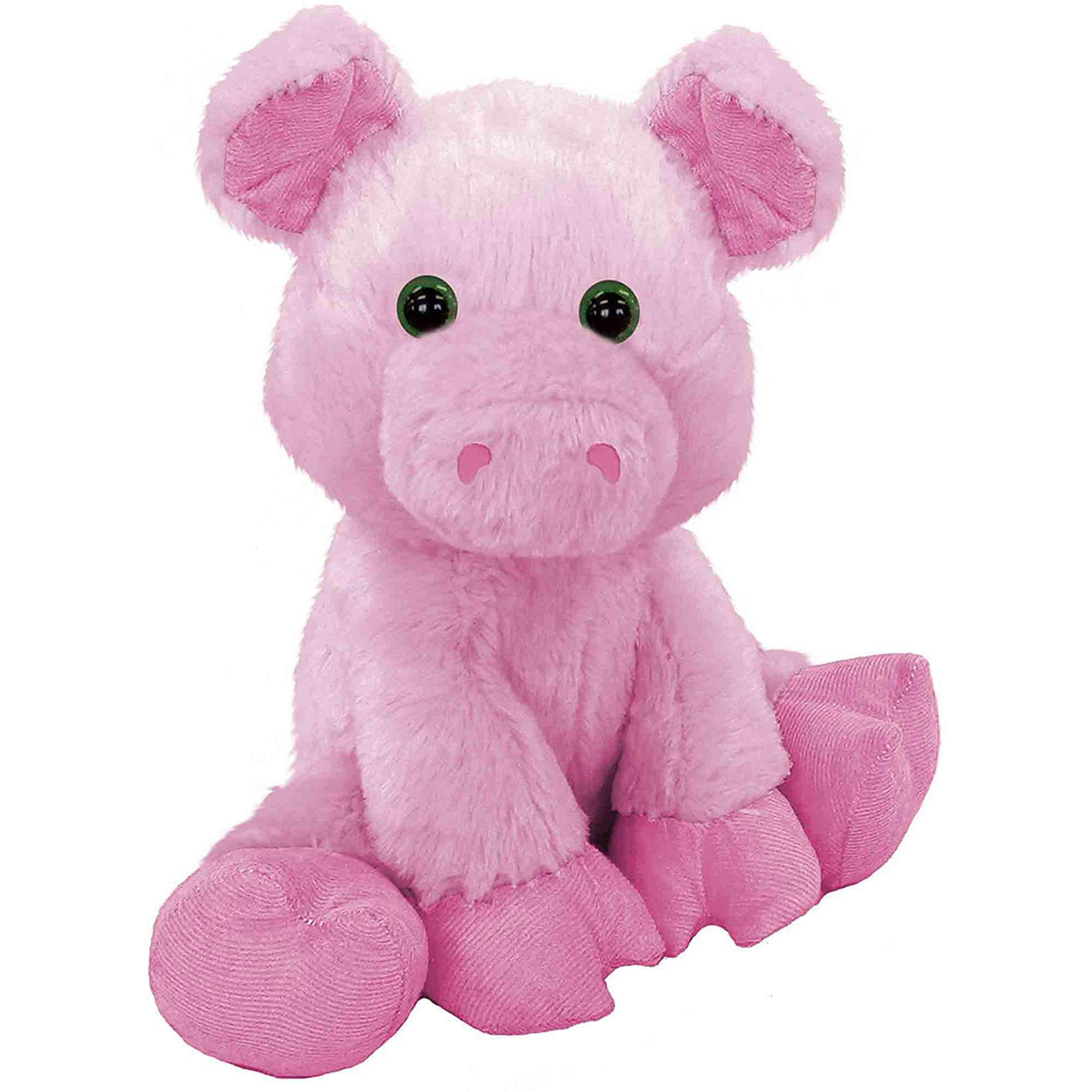 """First and Main Floppy Friends Pig 7"""" Plush"""