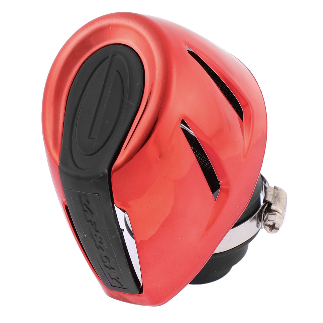 Unique Bargains Universal Red Black Rubber Plastic Motorcycle Air Filter Cleaner 48mm Thread Dia