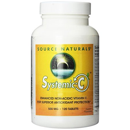 Source Naturals Systemic C 500mg, 120 Tablets (Nu Vitamin C)