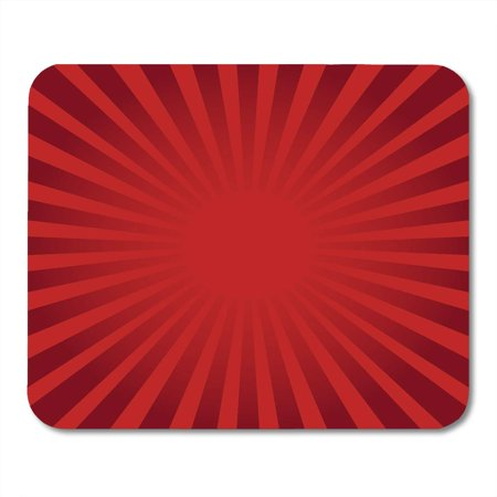 LADDKE Retro Colorful Burst Red Ray Sunburst Style Abstract Striped Maroon Mousepad Mouse Pad Mouse Mat 9x10 inch
