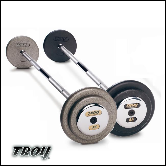 Troy Barbell PFB-035C Pro-Style Fix Curl Barbell - Black Plates And Chrome End Caps - 35 Pounds