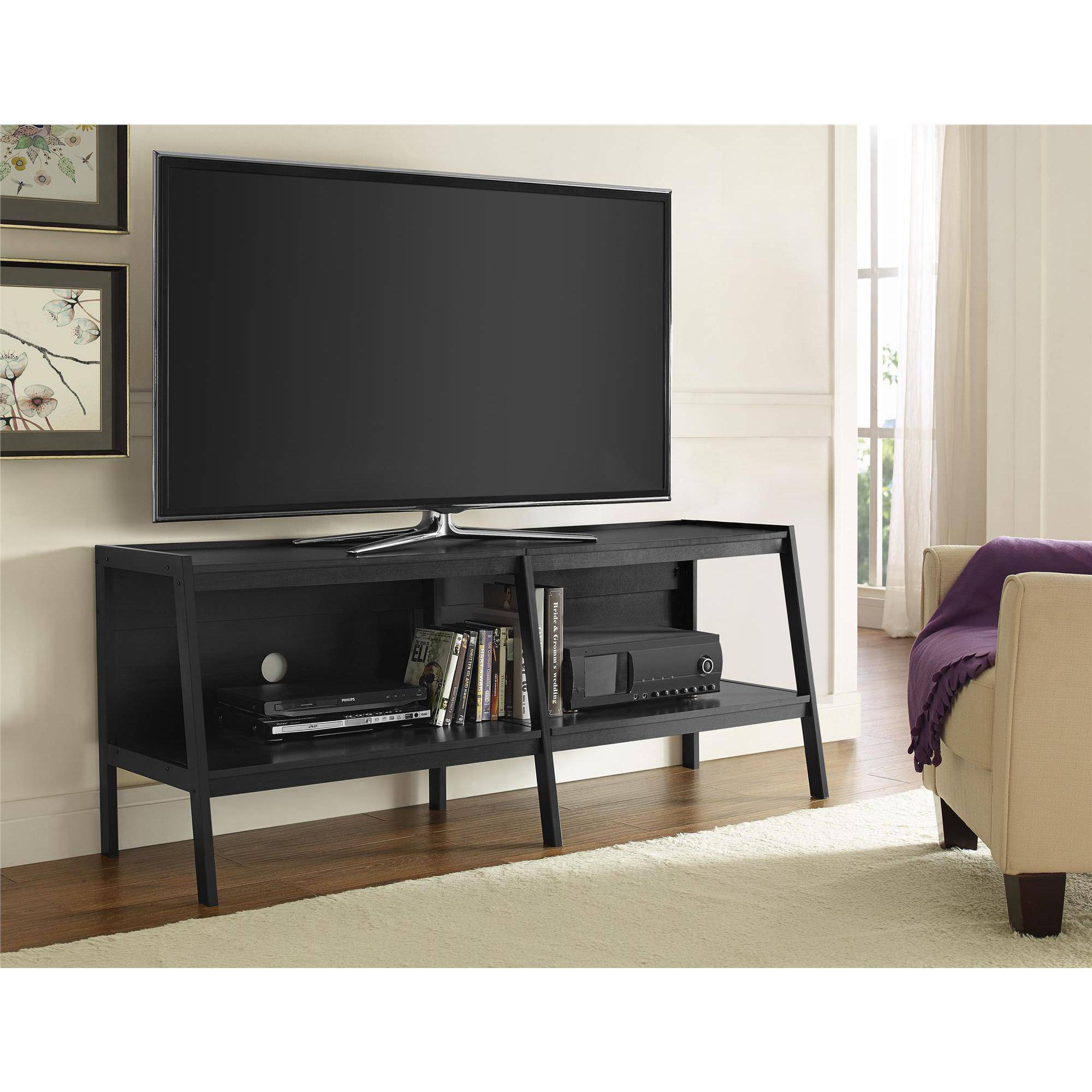 "Ameriwood Home Lawrence 60"" Ladder TV Stand, Black by Ameriwood"