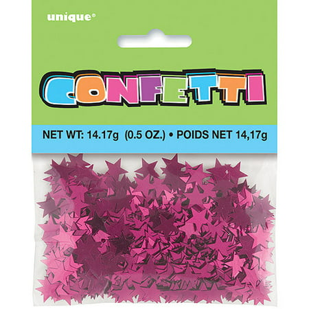 Metallic Star Confetti ((2 pack) Foil Star Confetti, 0.5 oz, Pink )