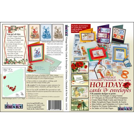 New Years Holiday Vintage Antique - ScrapSMART Holiday Vintage Collection Clip-Art CD-ROM: 477 Designs Christmas, Chanukah and New Years