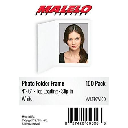 Plain White Photo Folder Frame  for 4x6 picture - 100 pack](Photo Frame Packs)