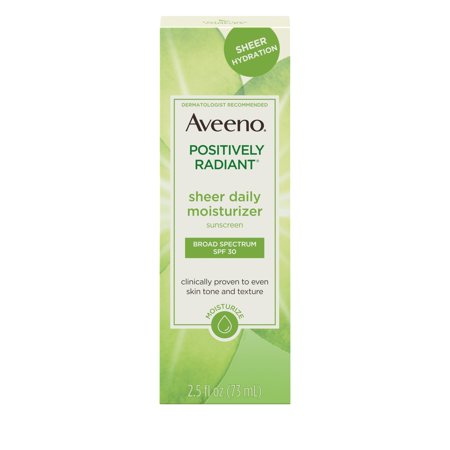 Aveeno Positively Radiant Daily Moisturizer (Aveeno Positively Radiant Sheer Daily Moisturizer SPF 30, 2.5 fl. oz )
